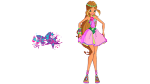 Winx Club Flora Fairy Jungle - PNGs! by PrincessBloom93