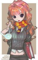 Colors on Hermione by burntbrush