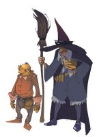 Witch and Orchin by OliverHarud