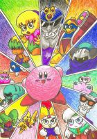 Kirby of the Stars by gerugeon
