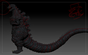 ShinGodzilla(side) by Gabe-TKE