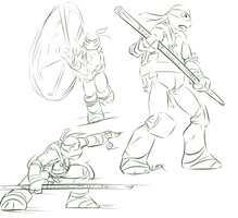 TMNT: More Donnie sketches by Fulcrumisthebomb