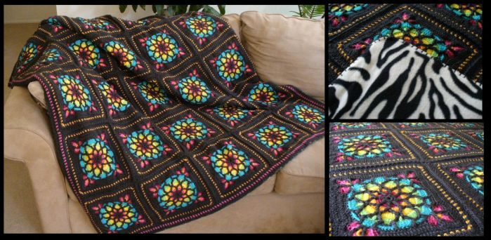 Stained Glass Window Afghan by radioactive-orchid