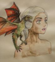 Daenerys+Drogon by Rena-chanRyuugu