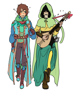Commision: A Cleric And A Frog Walk Into A Bar by Zanyzarah