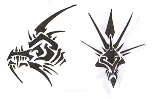 dragon heads of oragon tattos by Anubuis
