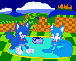 Picnic with Azylla and Misha by ExtinguishedFire12