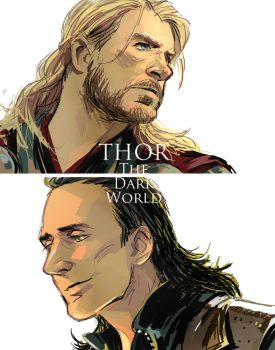 Thor : The Dark World by Hallpen