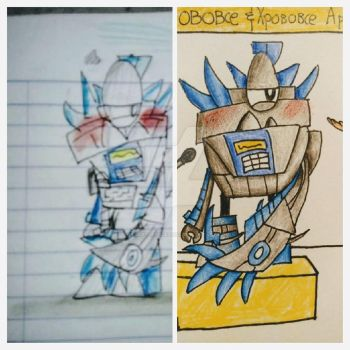 Left: drawn by @mimixels, Right: drawn by me by HRSArtOffical1103
