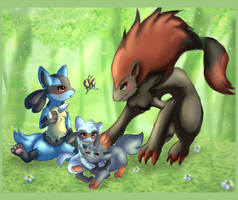 Forest Playdate by Lampent