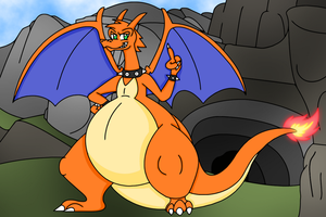 Axel the Charizard by dragovian15