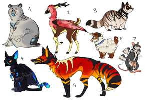 Adopt set 10 [CLOSED] by dizzyAdopts