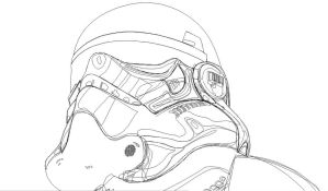 Star Wars, simplified wireframe view by Luinia