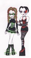 Daria and Jane Gone Cyber Goth by TheDramaticMonarch
