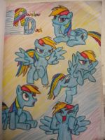 Rainbow Dash Mania by InkRose98