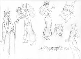 Leilah concept art by SilverGryphon8