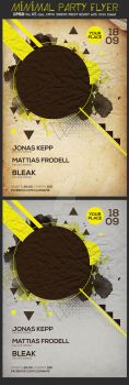Minimal Summer Party Flyer Template by Hotpindesigns