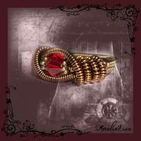 Fantasy coiled statement ring by AmeliaLune