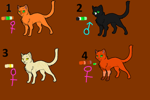Halloween adopts for 5 points by Warriorwolf12313