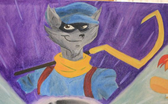 Childhood:  Sly Cooper by Raspberrythebat55