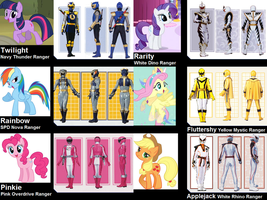 Mane Six as Power Rangers (for STORMERS-ATTITOONS) by AdrenalineRush1996