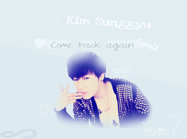Sunggyu Wallpaper // Come Back Again by xAlii