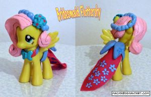 Custom Bridesmaid Fluttershy yay by HeyLookASign