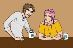 Sketchies: Remus and Tonks by Rotae