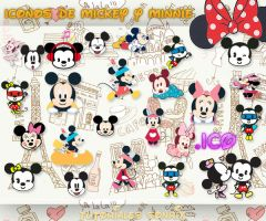 Iconos de Mickey y Minnie Mouse .ico by a-Sonrix
