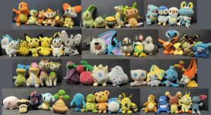 Pokemon Plush Collection by ShadedSorrow