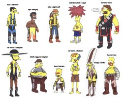 The Simpsons Kick Arse --fd by fuzzydemon