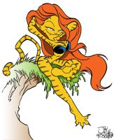 Tigra Pin Up by JayFosgitt