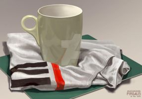 Still Life Study - Cup on Cloth by freakyfir