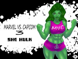 She Hulk MVC 3 Wallpaper by Zelmarr