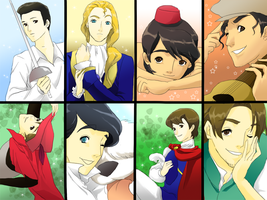 Disney 8 Princes by wool100ee