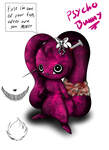 welcome my new oc: Psycho Bunny by BloodyPink-M