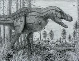 T-rex grows up. by Frank-Lode
