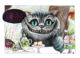 The Cheshire Cat by hamsterSKULL