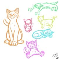 Colorful Cats by Megami33