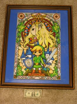 Legend of Zelda: The Wind Waker Stained Glass by Wacker00