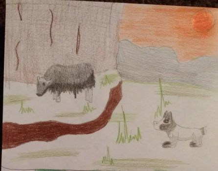 Madeleine Hunting a Musk Ox by forestgirl128