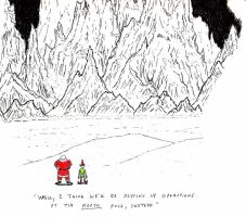 Santa at the Mountains of Madness by QuantumBranching