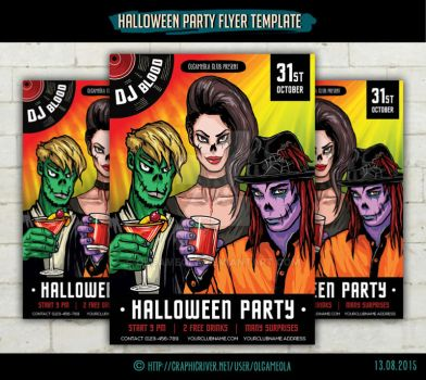 Halloween Party Flyer Template #1 by olgameola