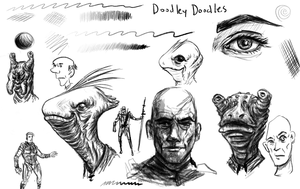 sketchy pencil brushes by thesadpencil