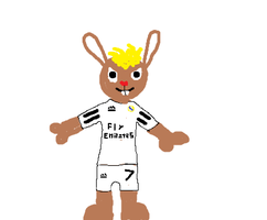 Wopter in a Real Madrid Shirt by HTF-432