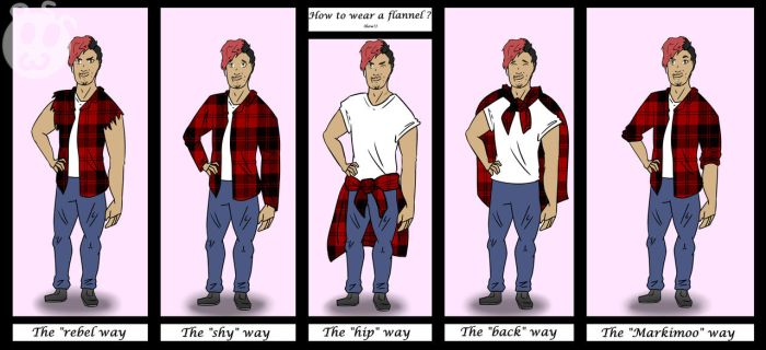How to wear a flannel by Drawershonen