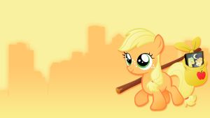 Filly Applejack Wallpaper by Pappkarton