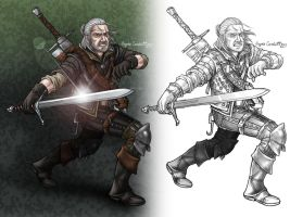 Geralt the Witcher by AIBryce