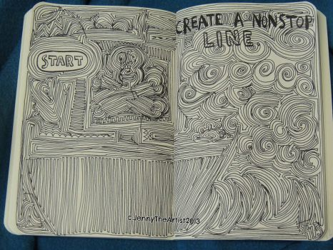 Nonstop Line - Wreck This Journal by JennyArchibald