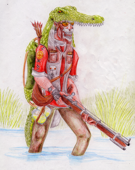Sniper Team Fortress 2 - The Swamp Hunter by L-Draco